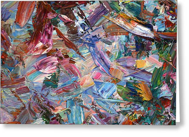 Expressionism Greeting Cards - Paint number 42-b Greeting Card by James W Johnson