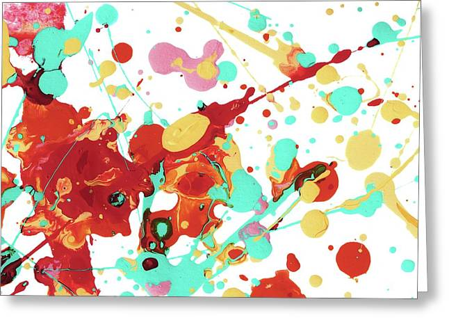 Paint Party Greeting Card by Amy Vangsgard