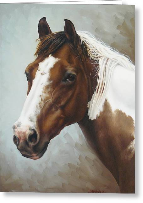 Paint Portrait Greeting Card by Margaret Stockdale