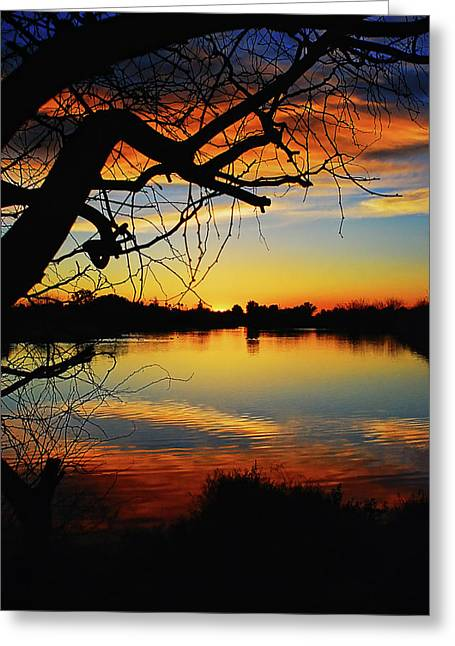 Paint The Sky Greeting Card by Saija  Lehtonen