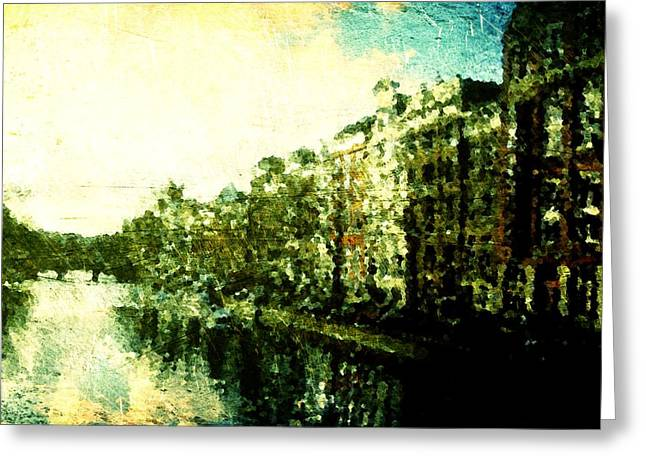 Painted Amsterdam Greeting Card by Andrea Barbieri