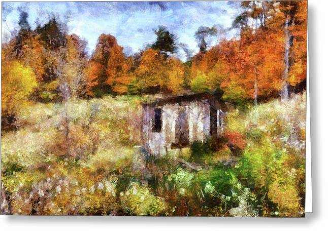 Painted Autumn Clearing Greeting Card