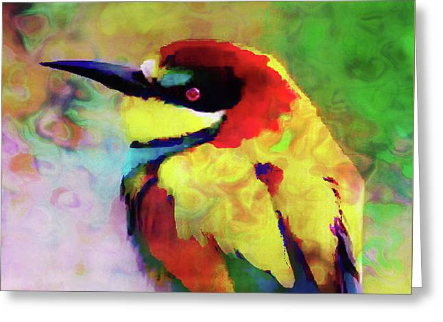 Painted Bee Eater Greeting Card