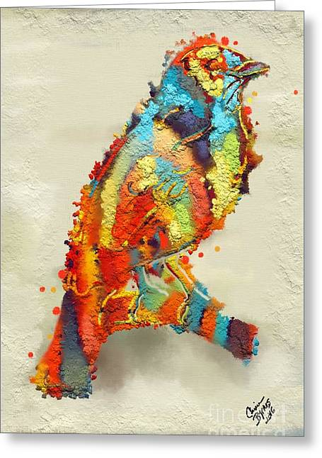 Painted Bird Greeting Card