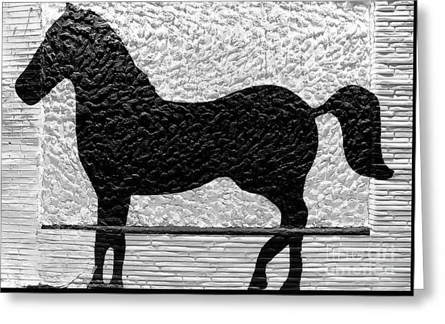 Greeting Card featuring the photograph Painted Black - Stone Pony by Colleen Kammerer