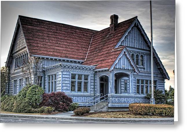 Painted Blue House Greeting Card