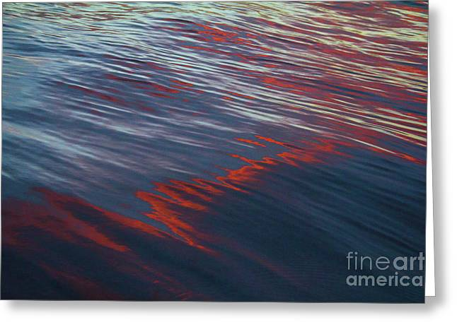 Painted By Nature - Water On The Flight Through The Fiery Skies Greeting Card