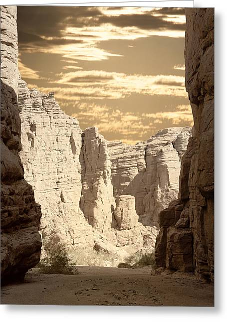 Painted Canyon Trail Greeting Card
