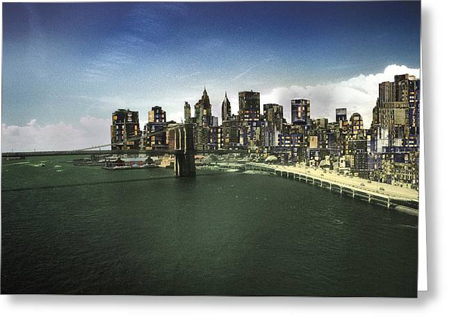Greeting Card featuring the photograph Painted City by Dave Beckerman
