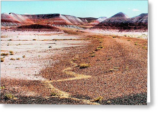 Painted Desert 0319 Greeting Card by Sharon Broucek