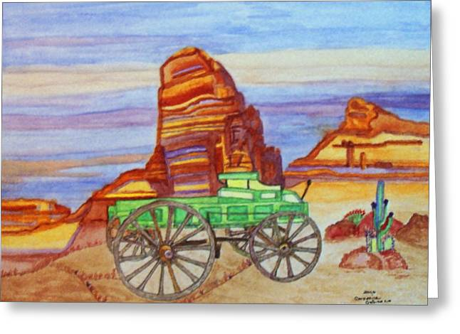 Painted Desert Greeting Card by Connie Valasco
