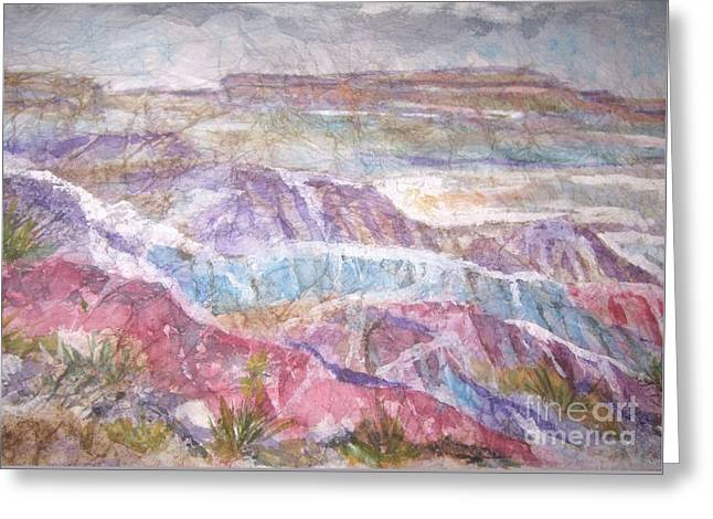 Painted Desert Greeting Card by Ellen Levinson