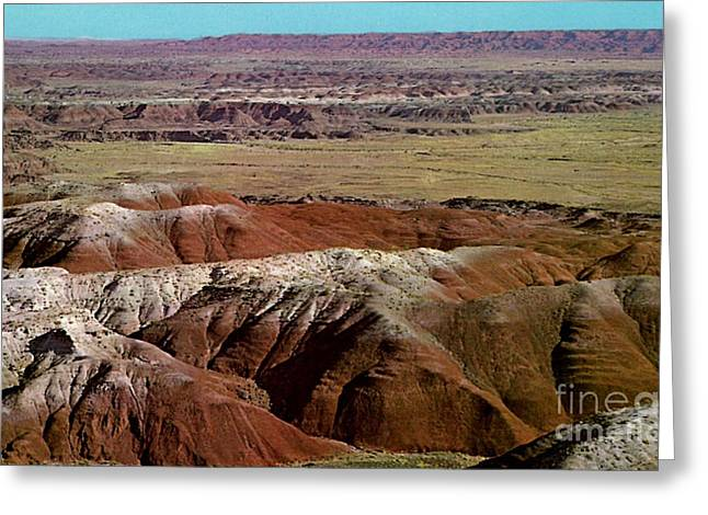 Painted Desert In Arizona Greeting Card by Ruth  Housley