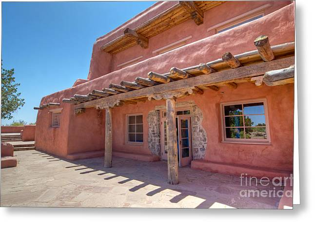 Painted Desert Inn Back Terrace Greeting Card by Bob and Nancy Kendrick