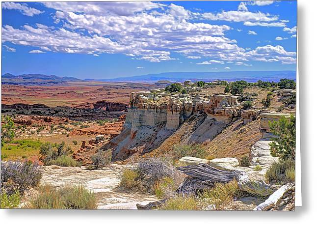 Painted Desert Of Utah Greeting Card