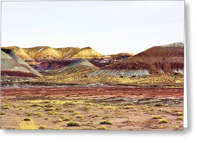 Painted Desert Winter 0602 Greeting Card by Sharon Broucek