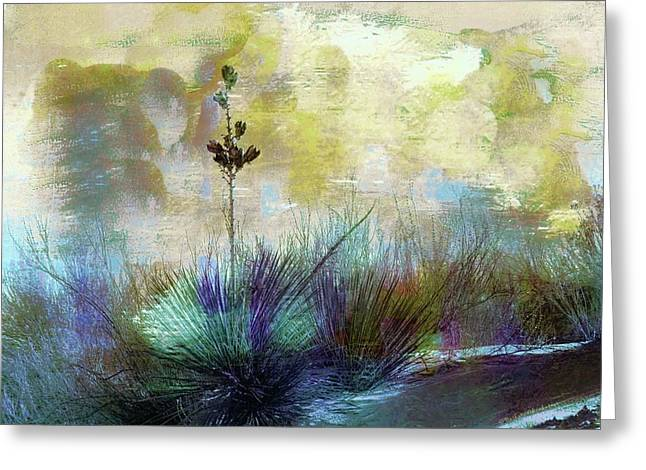 Painted Desertscape Greeting Card by Barbara Chichester