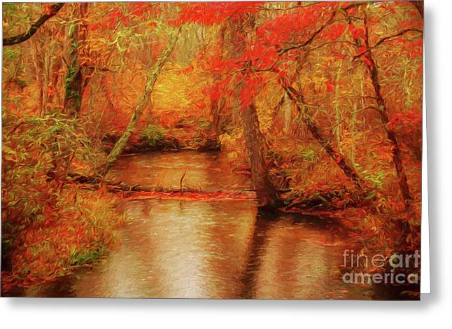 Painted Fall Greeting Card