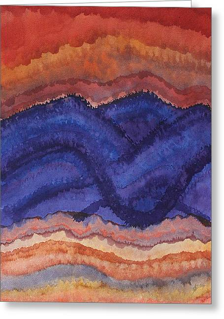 Painted High Desert Original Painting Greeting Card by Sol Luckman