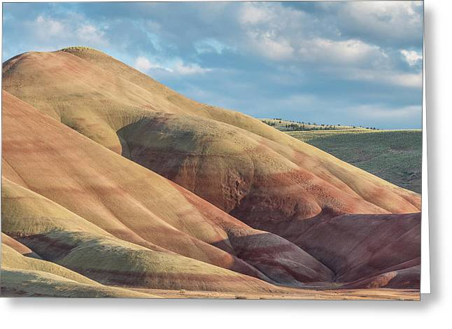 Greeting Card featuring the photograph Painted Hill And Clouds by Greg Nyquist