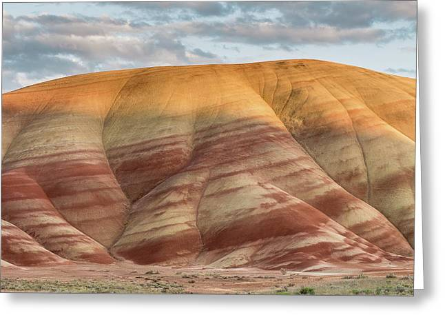 Greeting Card featuring the photograph Painted Hill At Last Light by Greg Nyquist