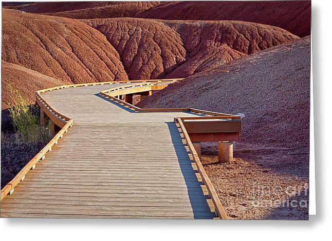 Painted Hills Boardwalk Greeting Card by Jerry Fornarotto