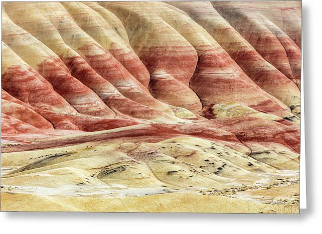 Greeting Card featuring the photograph Painted Hills Landscape by Pierre Leclerc Photography