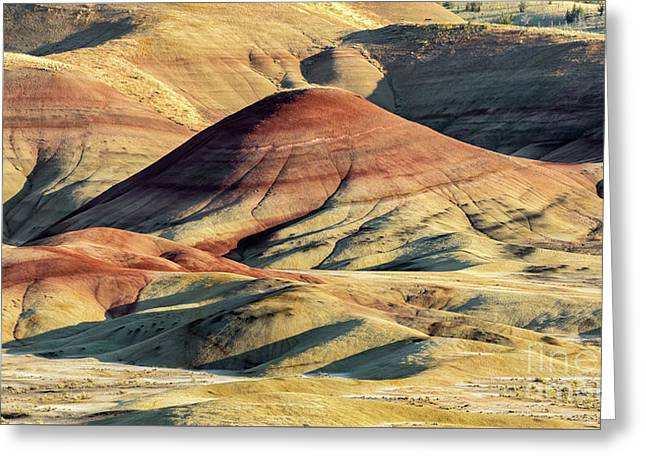 Painted Hills, Oregon Greeting Card by Jerry Fornarotto