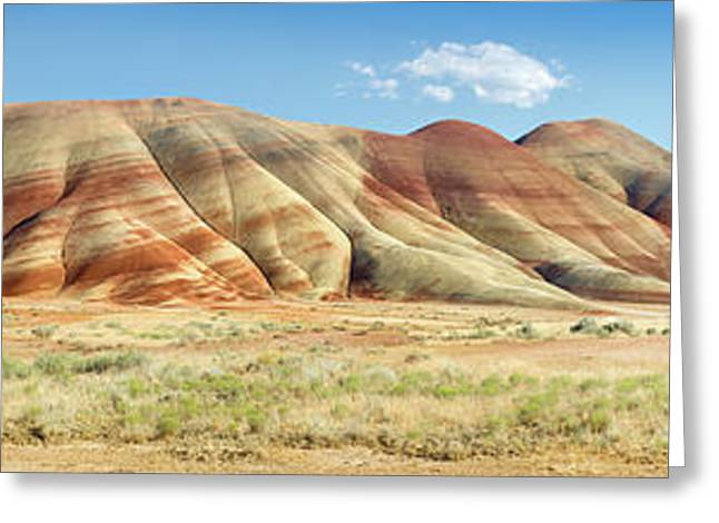 Painted Hills Pano 1 Greeting Card by Jerry Fornarotto
