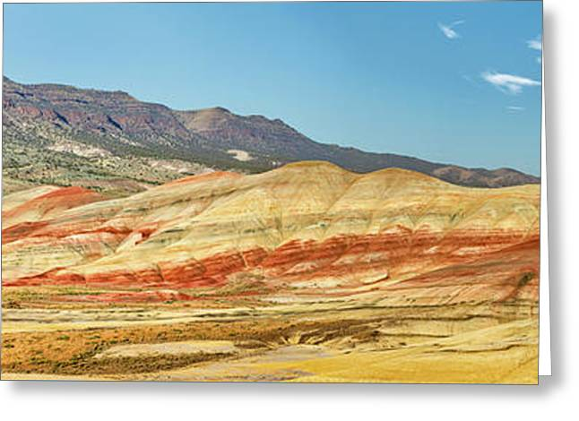 Painted Hills Pano 2 Greeting Card by Jerry Fornarotto