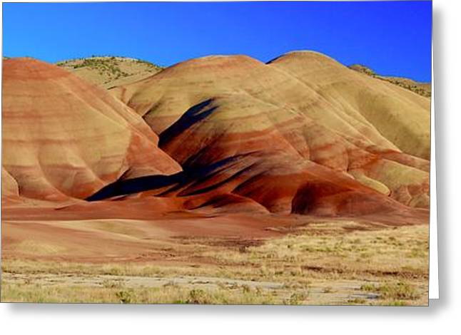 Painted Hills Pano Greeting Card