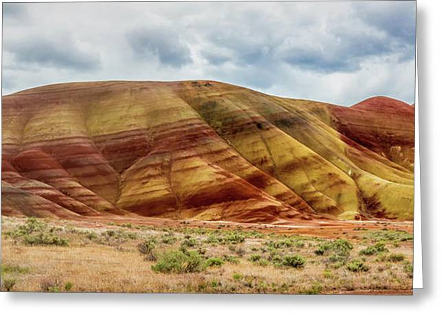 Painted Hills Panorama 2 Greeting Card