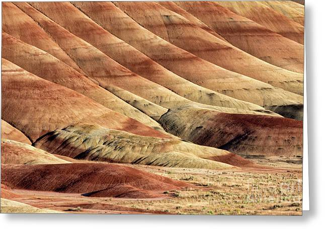 Painted Hills Textures Greeting Card by Jerry Fornarotto
