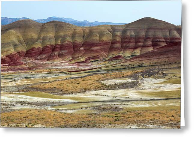 Painted Hills View From Overlook Greeting Card