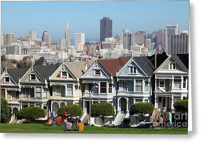 Painted Ladies Of Alamo Square San Francisco California 5d27996 Greeting Card