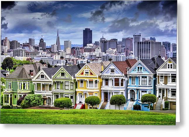 Painted Ladies Of San Francisco  Greeting Card