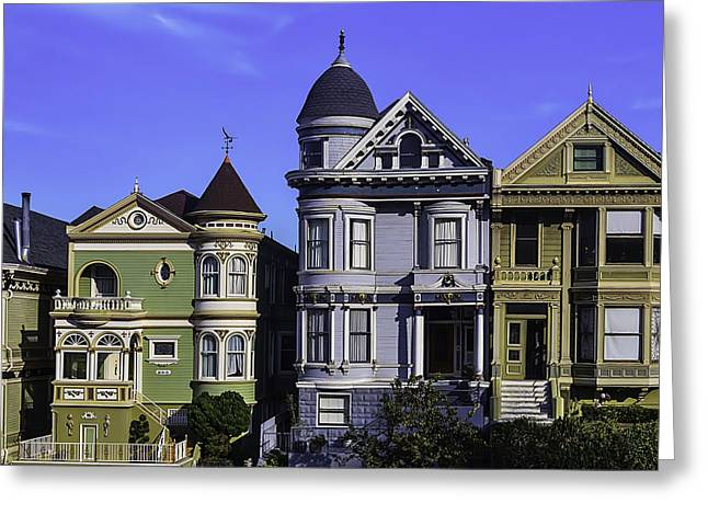 Painted Ladies Of San Francisco  Greeting Card