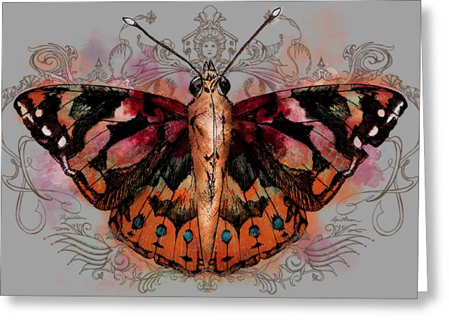 Painted Lady II Greeting Card