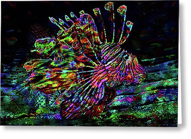 Painted Lionfish Greeting Card