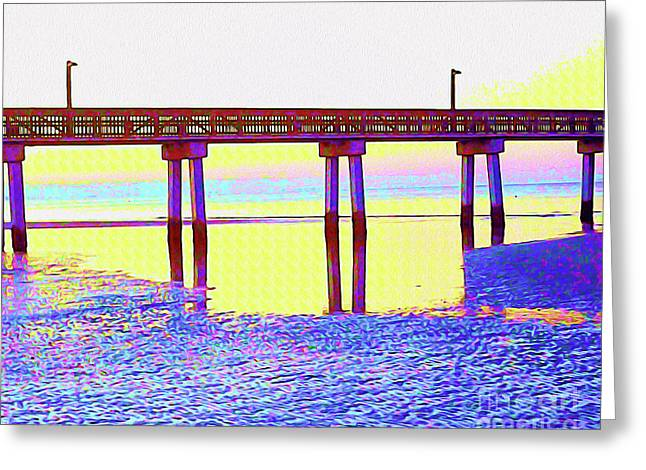 Painted Low Tide Reflected Greeting Card by Chris Andruskiewicz