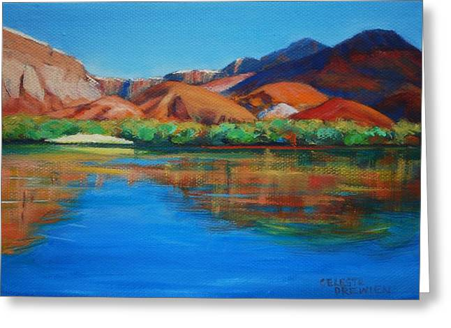 Marble Canyon Painted Greeting Card by Celeste Drewien