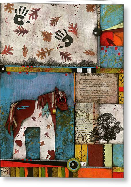 Painted Mare, Oak, War Pony  Greeting Card