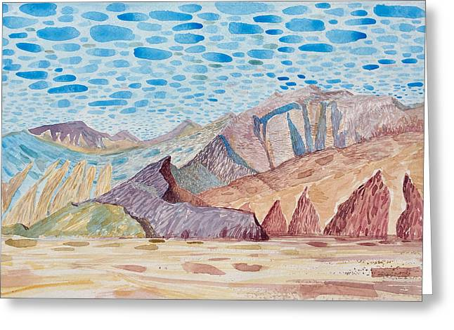 Painted Mountain II Greeting Card by Vaughan Davies