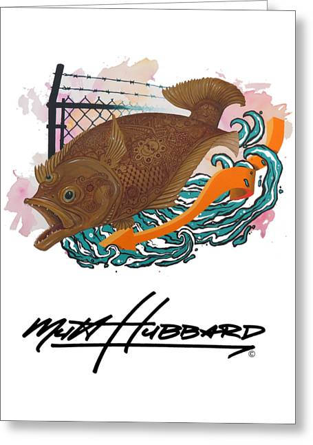 Painted Greeting Card by Mutt Hubbard