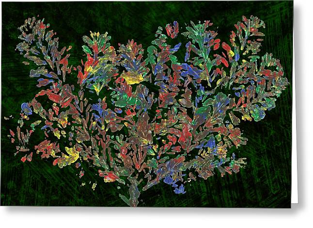 Greeting Card featuring the painting Painted Nature 2 by Sami Tiainen
