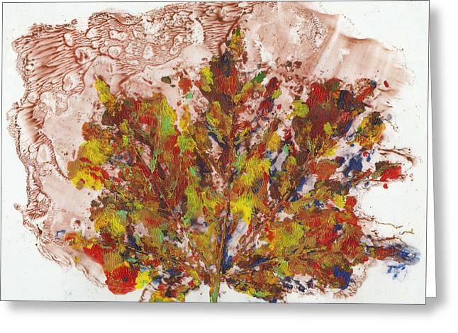 Greeting Card featuring the painting Painted Nature 3 by Sami Tiainen