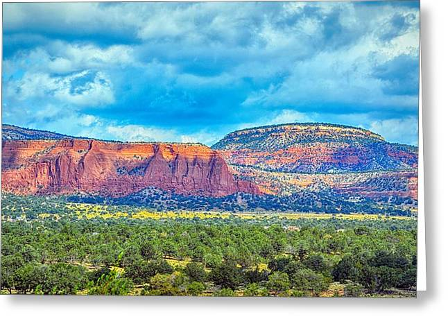 Greeting Card featuring the photograph Painted New Mexico by AJ Schibig