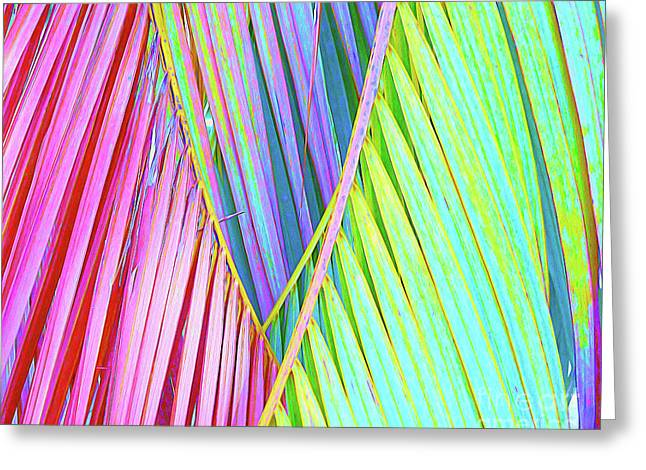 Painted Palms Greeting Card by Chris Andruskiewicz