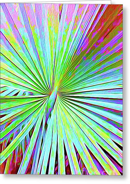 Painted Palms II Greeting Card by Chris Andruskiewicz