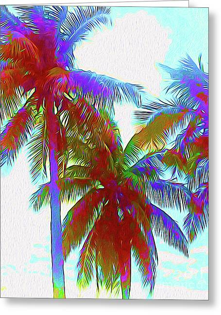 Painted Palms IIi Greeting Card by Chris Andruskiewicz